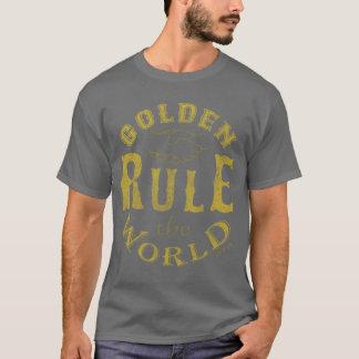 Der dunkle T - Shirt-Vintage goldene Regel der T-Shirt