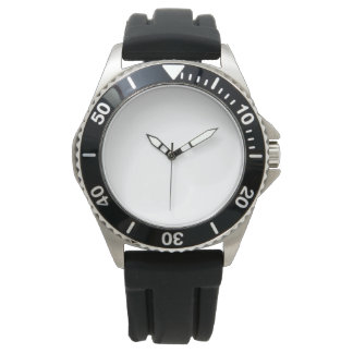 Der Edelstahl-Schwarz-Gummibügel-Uhr der Männer Uhren