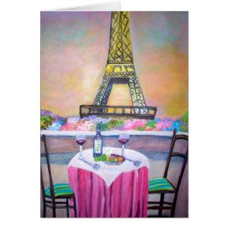 Der Eiffelturm - Karte
