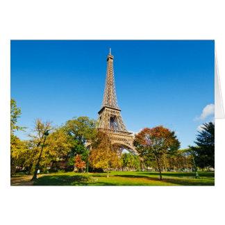 Der Eiffelturm Karte