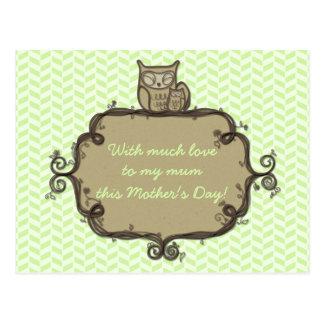 Der einfache erdige Tag der Eulen-Mutter Postkarte