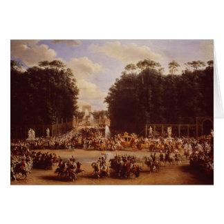 Der Eintritt von Napoleon und von Marie-Louise Karte