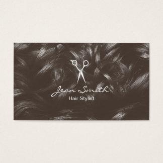 Der elegante Haar-Stylist Scissor u. Haar Visitenkarten