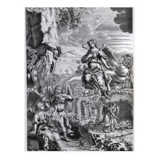 Der Erzengel Uriel informiert Gabriel Postkarte