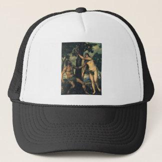 Der Fall des Mannes; Adam und Eve durch Titian Truckerkappe