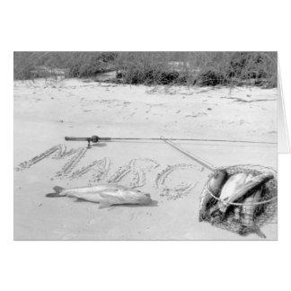Der Fang des Anglers, Marco Island, Florida, 1959 Grußkarte