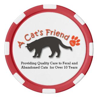 Der Freund-informierende Chips einer Katze Poker Chip Set