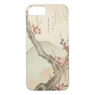 Der Fujisan hinter einem blühenden Pflaumen-Baum iPhone 8/7 Hülle