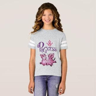Der Fußball-Shirt PIGCESS CARTOON Mädchen T-Shirt
