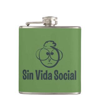 Der Gafotas eingepackter Petaca in Vinilo, 175 ml, Flachmann