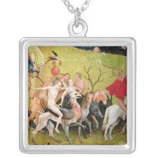 Der Garten der irdischen Freuden: Allegorie von Halskette Mit Quadratischem Anhänger