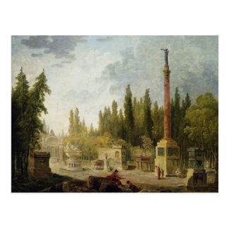 Der Garten der Musee DES-Monumente Francais Postkarte