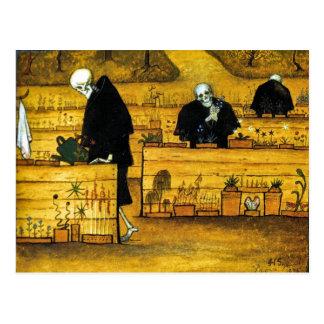 Der Garten des Todes durch Hugo Simberg 1896 Postkarte