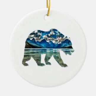 DER GEBIRGSsee Keramik Ornament