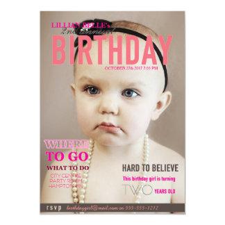 Der Geburtstag des kundengerechten Mädchens laden 12,7 X 17,8 Cm Einladungskarte