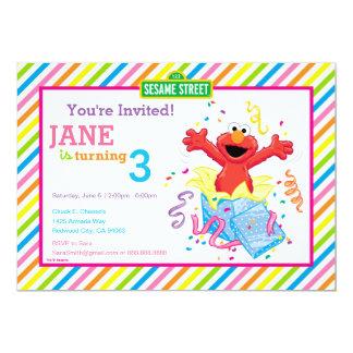 Der Geburtstag des Mädchens des Sesame Street-  12,7 X 17,8 Cm Einladungskarte