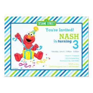 Der Geburtstag Elmo Jungen 12,7 X 17,8 Cm Einladungskarte