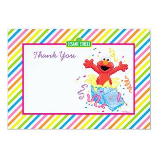 Der Geburtstag Elmo Mädchens 8,9 X 12,7 Cm Einladungskarte