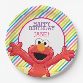 Der Geburtstag Elmo Mädchens Pappteller 22,9 Cm