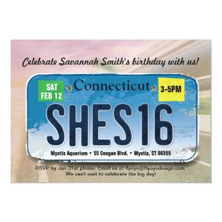 Der Geburtstags-Connecticut-Einladung des Mädchens 12,7 X 17,8 Cm Einladungskarte