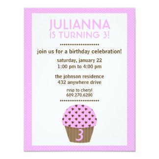Der Geburtstags-Einladung des Mädchens der 10,8 X 14 Cm Einladungskarte