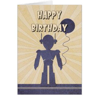 Der Geburtstags-Karte des Roboter-Jungen Grußkarte