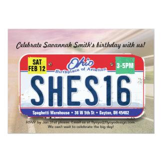 Der Geburtstags-Ohio-Lizenz-Einladung des Mädchens 12,7 X 17,8 Cm Einladungskarte
