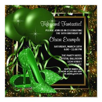 Der Geburtstags-Party der Smaragdgrün-hohe Karte
