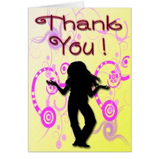 Der Geburtstags-Party des Tween-Mädchens danken Mitteilungskarte