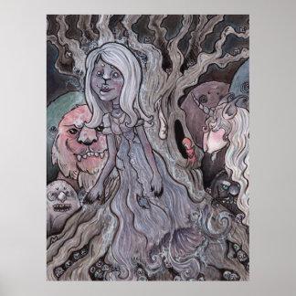 Der Geist und der Einhorn-archivalische Druck Poster