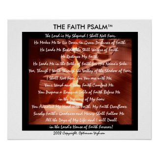 Der Glauben-Psalm durch WarriorsCreed Poster