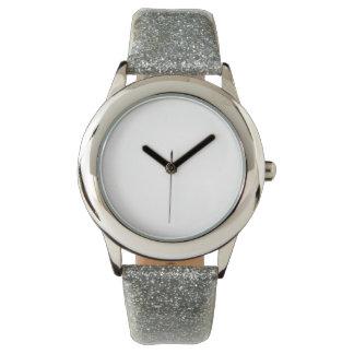 Der Glitter-Bügel-Uhr des Kindes silberne Uhr