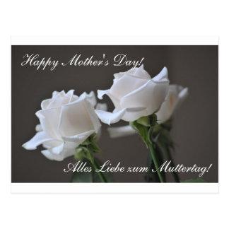 Der glückliche Tag der Mutter - Muttertag - Rose Postkarte