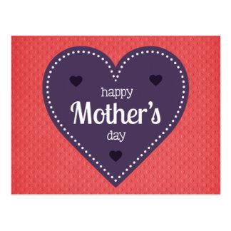 Der glückliche Tag der Mutter Postkarte