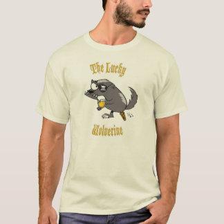 Der glückliche Vielfrass grundlegende T T-Shirt