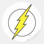 Der grelle Blitz-Bolzen Runde Sticker