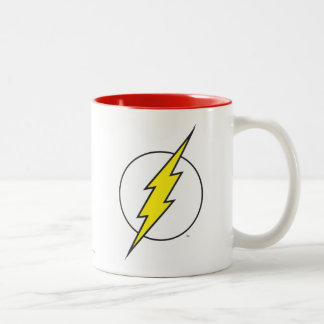 Der grelle | Blitz-Bolzen Zweifarbige Tasse