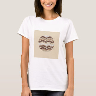 Der grundlegende T - Shirt der beige Mosaik-Frauen