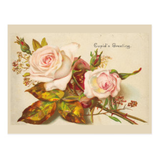 Der GrußVintage Valentine-Postkarte des Amors Postkarte