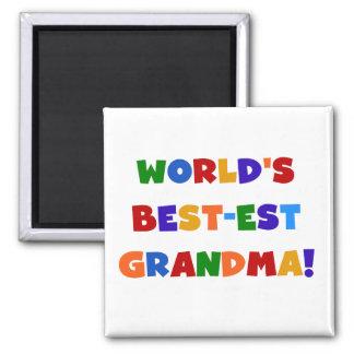 Der Gut-est-Großmutter-helle T-Shirts und Geschenk Quadratischer Magnet