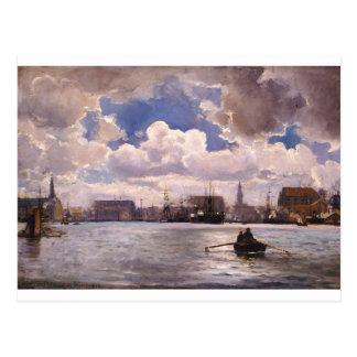 Der Hafen von Kopenhagen durch Ioannis Altamouras Postkarte