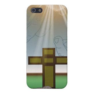 Der Hand des Gottes über dem Kreuz von Christus iPhone 5 Case