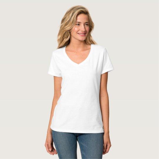 Hanes Nano T-Shirt mit V-Ausschnitt für Frauen