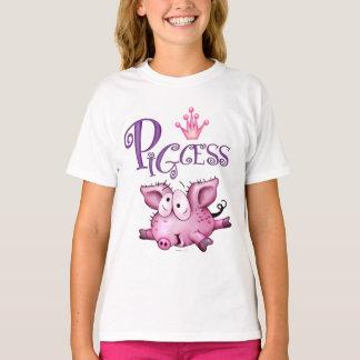 Der Hanes TAGLESS® PIGCESS CARTOON Mädchen T - T-Shirt