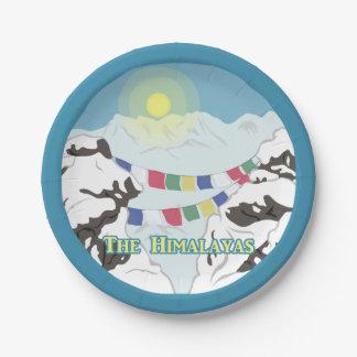 Der Himalaja Pappteller