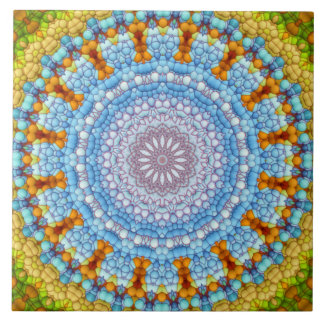 """Der Himmel innerhalb"" der Mandala-Fliese Große Quadratische Fliese"