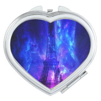 Der Himmels-Paris-Amethyst-Träume der Schaffung Taschenspiegel