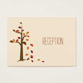 der Hochzeit im Herbsts-Empfang laden ein Visitenkarte