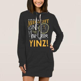 Der Hoodie-Kleid guten Rutsch ins Neue Jahr Yinz Kleid
