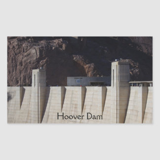 Der Hooverdamm Rechteckiger Aufkleber